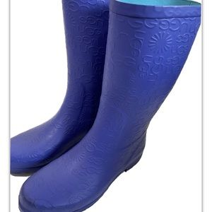 UGG Australia Ladies 6 Wilshire Logo Rain Boot